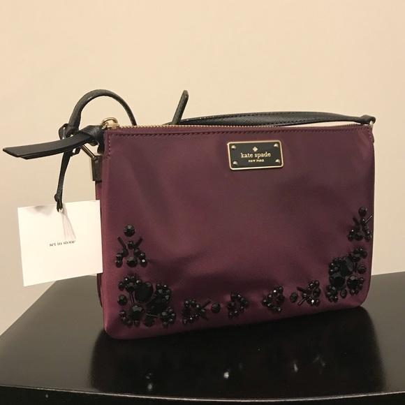 kate spade Handbags - NWT Kate Spade Madelyne Purse - Deep Plum